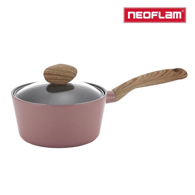 NEOFLAM RETRO抗菌系列30CM炒鍋-乾燥玫瑰粉(IH爐適用/不挑爐具/含玻璃蓋)