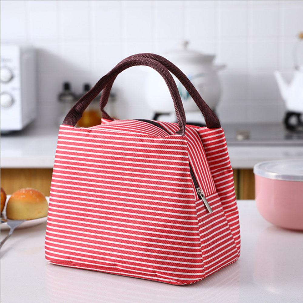 PUSH!居家生活用品新款條紋野餐包保溫包冰包防水便當包袋(2入)S77