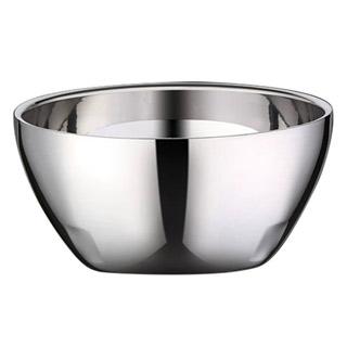 PUSH!餐具316不銹鋼碗防燙防摔粥湯飯碗泡麵碗隔熱雙層碗11.5cm 1入E147