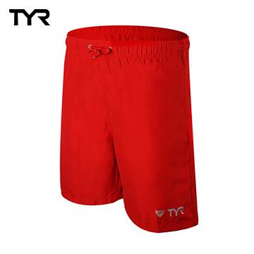 美國TYR 男款透氣慢跑短褲 Bentley Shorts Red 台灣總代理