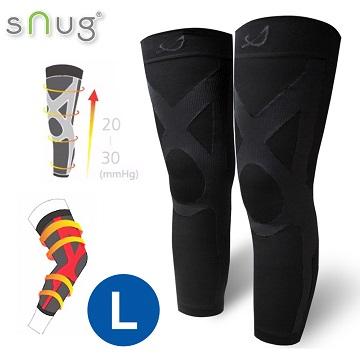 SNUG運動壓縮全腿套-1雙(L號)(百搭黑)