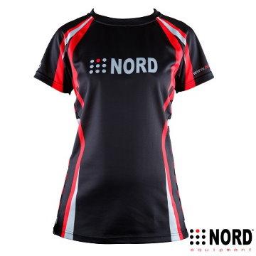 NORD 3M 女用機能性乾濕分離慢跑衣-黑紅