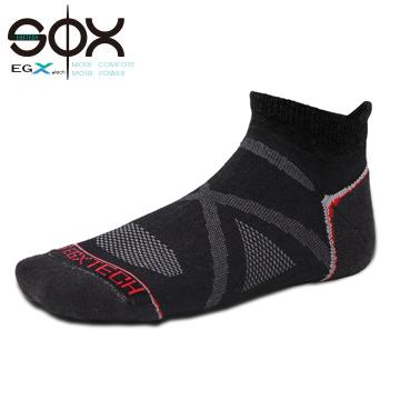 FIX2踝型運動襪 黑/紅
