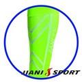 [JIANI SPORT]協會指定MST檢驗款/運動壓力小腿套/JS11/螢光綠/登山/慢跑/超馬/自行車/三鐵/球類/運動