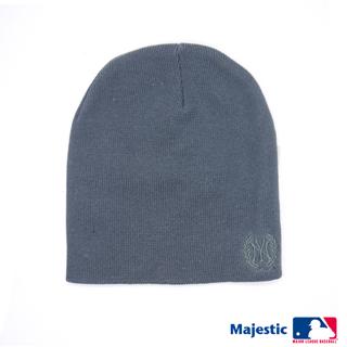 MLB-洋基純色電繡質感毛帽-灰色