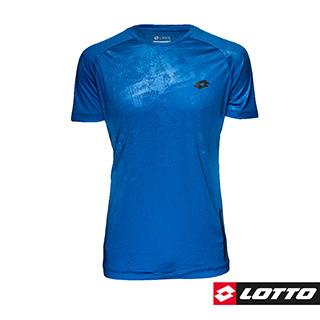 【LOTTO 義大利】男 訓練短袖圓領T-SHIRT(藍-LTT5154)