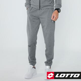 【LOTTO 義大利】男足球風長褲(淺灰-LTT5923)