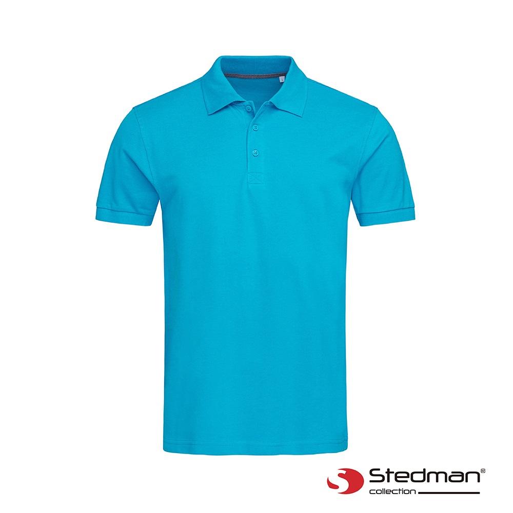 【德國STEDMAN】ST9060 100%精梳棉POLO衫-男-天藍