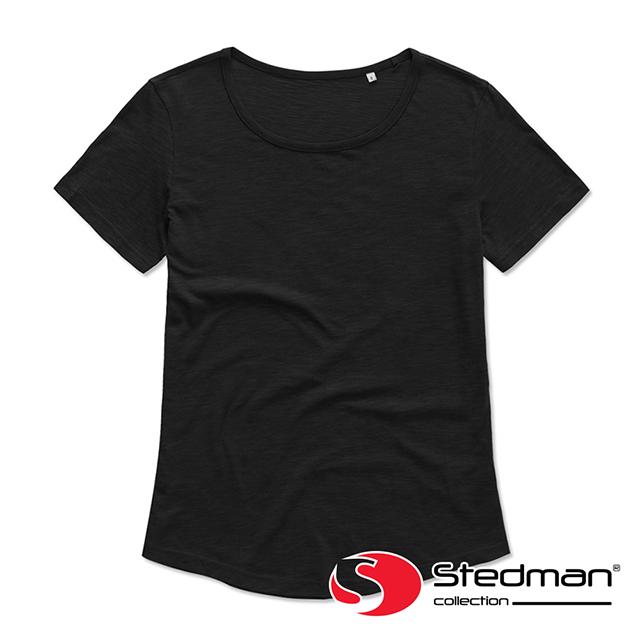 【德國STEDMAN】ST9320 100%環錠有機精梳棉圓領上衣-女-黑