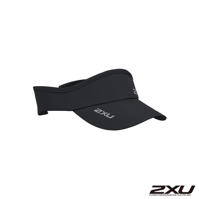 2XU 慢跑中空帽(可調式) 黑