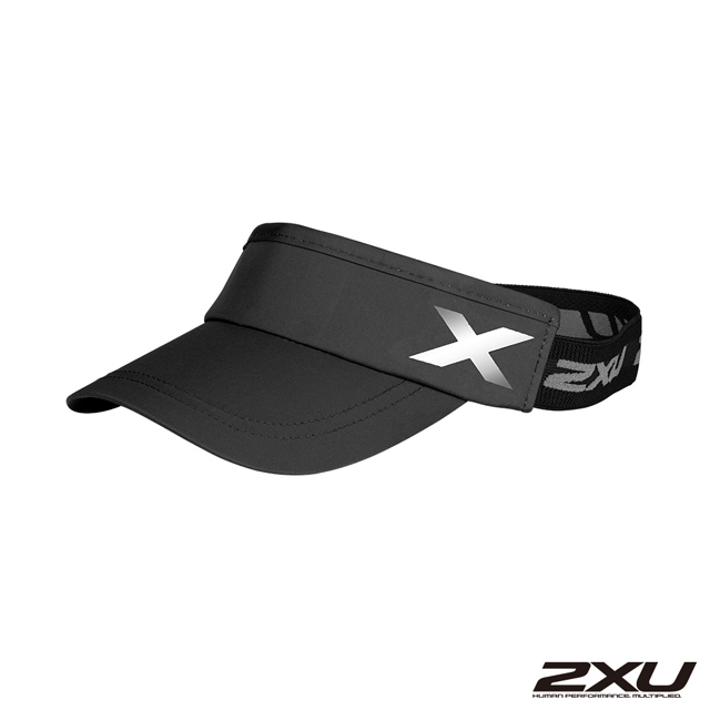 2XU 慢跑中空帽 黑