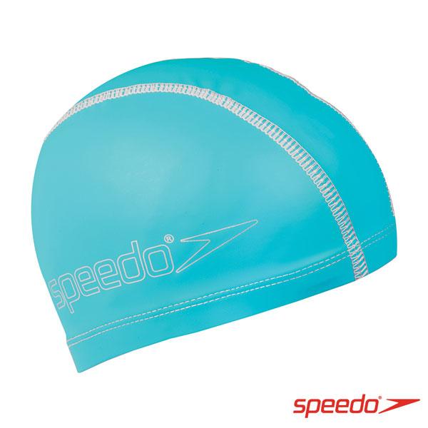 SPEEDO 兒童合成泳帽 Pace 水藍