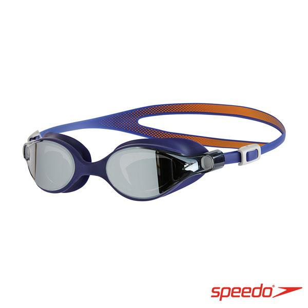 SPEEDO 成人運動鏡面泳鏡 V-CLASS Mirror 深藍