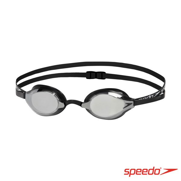 SPEEDO 成人競技鏡面泳鏡 SPEEDSOCKET 黑