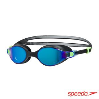 SPEEDO 成人運動鏡面泳鏡 V-CLASS Mirror 黑/藍