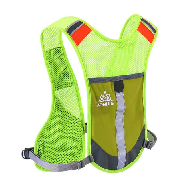 奧尼捷 AONIJIE 超輕單車跑步反光背心背包螢光綠 (水壺另購)馬拉松/運動/騎行/慢跑/登山/健行/越野賽