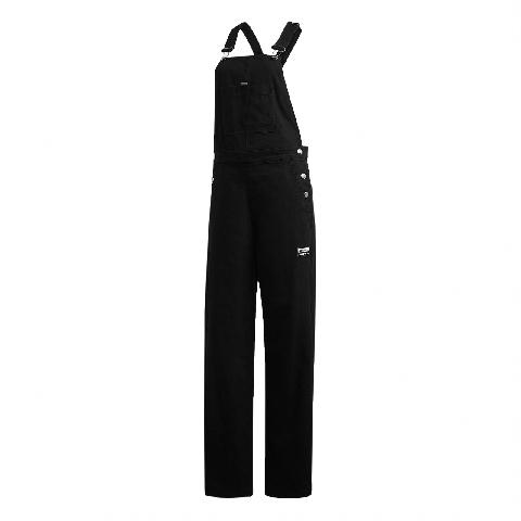 adidas 吊帶褲 R.Y.V. Dungarees 女款 愛迪達 三葉草 連身褲 流行 穿搭 黑 紅 白 GD3877 GD3877