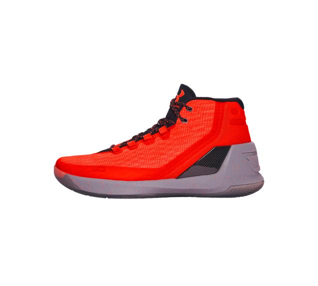 【UNDER ARMOUR】男 Curry 3 籃球鞋 亮橘/石墨黑