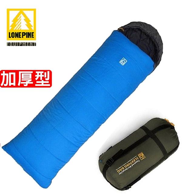 【澳洲LONEPINE】加倍保暖信封式防水極地保暖睡袋 藍色