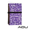 AOU 台灣製造大尺寸野餐墊 防水露營墊 (潮流紫色) 66-022D2