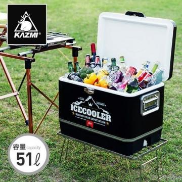 KAZMI黑爵士不鏽鋼行動冰箱51L/冰桶/保溫箱K6T3A015