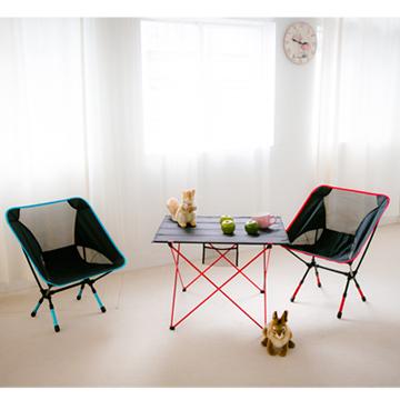 日式全鋁合金折疊桌*1+鋁合金輕巧休閒椅*2