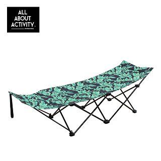 日本品牌ALL ABOUT ACTIVITY-攜帶型摺疊躺椅-清新綠草