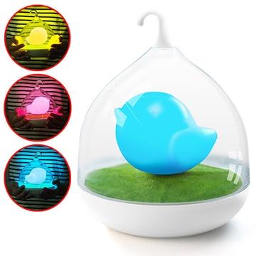 療癒系 創意鳥籠USB觸控感應小夜燈