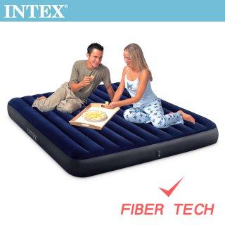 INTEX 經典雙人特大充氣床-寬183cm(64755)