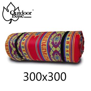【Outdoorbase】繽紛防水野營墊(紅彩)-300X300CM 防潮墊 野餐墊 地墊 PE鋁箔墊 睡墊 帳蓬內墊