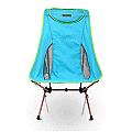 【OutdoorBase】AMOEBA 阿米巴 航太鋁合金 高背 二段休閒 折疊 椅(附收納袋) 天空藍 25773
