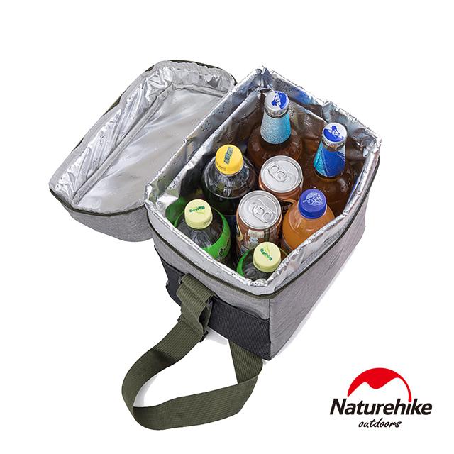 Naturehike 豪華版輕量野餐兩用保溫包 保冰包 大號 附保鮮盒+USB加熱片 橘紅