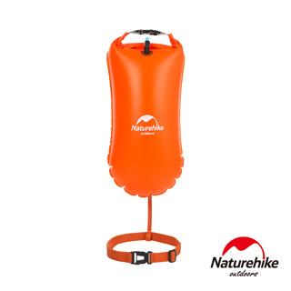 Naturehike 戶外超輕量單氣囊充氣游泳防水袋 裝備袋 漂流袋8.5L 附腰帶 橘色