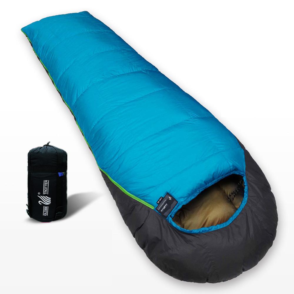 遊遍天下  MIT台灣製保暖防風防潑水羽絨睡袋D800(1.5KG)(顏色隨機)