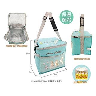 【安妮兔】大容量20瓶易開灌裝保溫保冷野餐袋 附網 (買一送一) 143Y-2511W