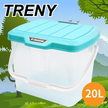 TRENY露營收納桶-大-青藍