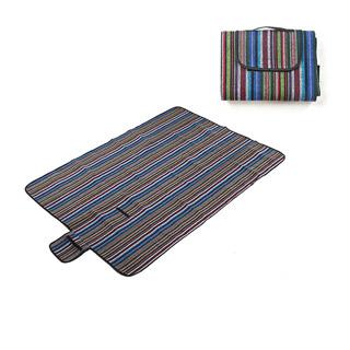 PUSH!戶外用品150*200cm親膚透氣加厚防潮墊地席野餐墊睡墊床墊瑜伽墊P127藍條紋