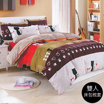 【J-bedtime】天鵝絨超舒眠雙人三件式床包組(浪漫黃昏)