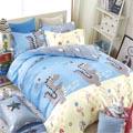 BELLE VIE 可愛龍龍 精梳棉雙人加大四件式床包兩用被組