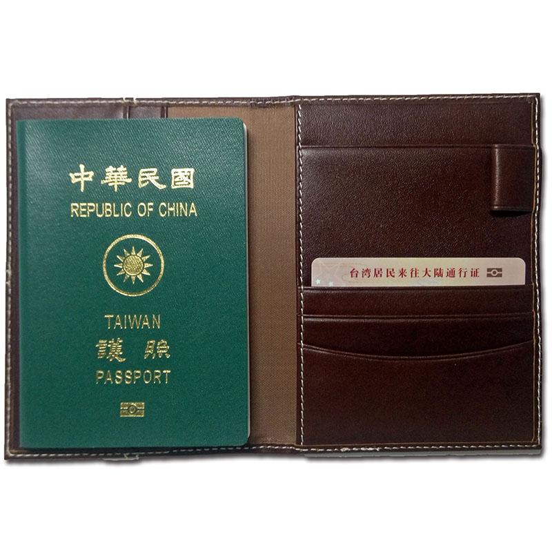 Artkina  小牛皮英倫護照夾-咖啡