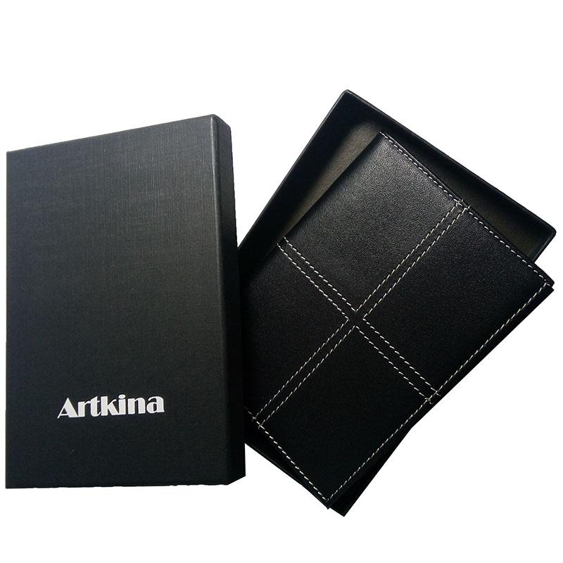 Artkina  小牛皮英倫護照夾-尊爵黑