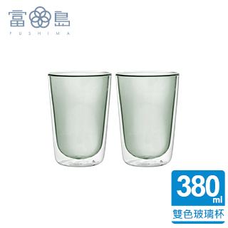 【FUSHIMA 富島】Addicted系列-雙層玻璃杯380ML-時尚貴族黑*2入