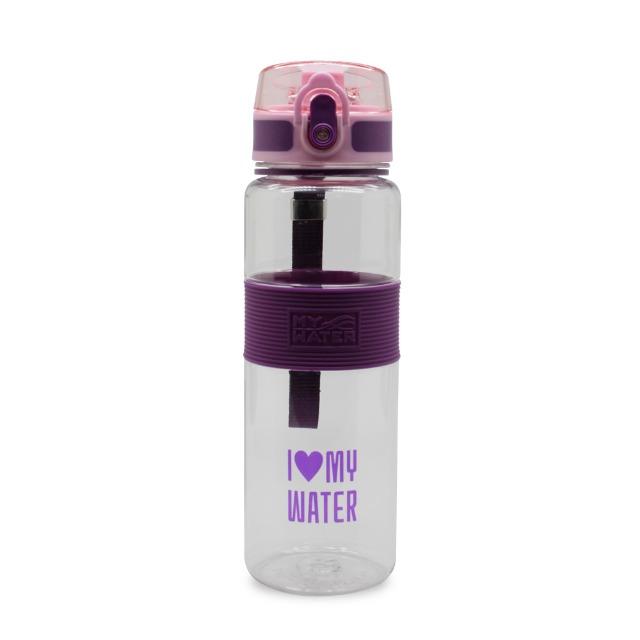 MY WATER萌夏彈蓋水壺600ml紫色