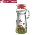 Tiamo 玻璃水壺950ml-把手款 紅色蘋果(HG2291R)