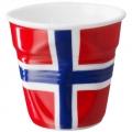法國 REVOL FRO 挪威國旗陶瓷皺折杯 80cc