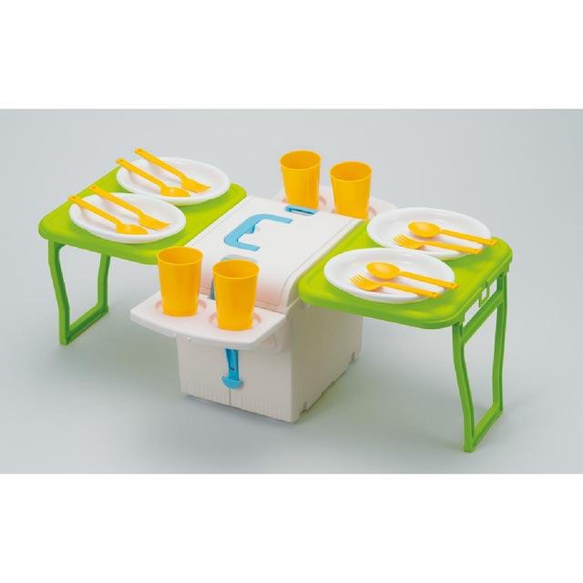 【日本IMOTANI】日本製多功能行動摺疊桌保冷箱5.4L