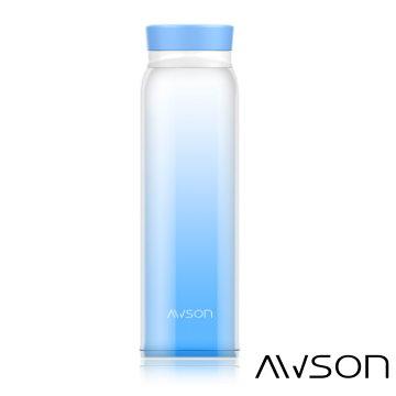 AWSON 304彩漾超輕量不銹鋼真空保溫保冷杯ASM82(藍)
