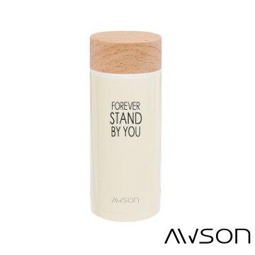 AWSON 304不銹鋼真空保溫保冷杯ASM51(鵝黃)