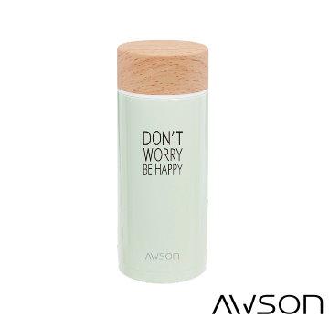 AWSON 304不銹鋼真空保溫保冷杯ASM51(嫩綠)