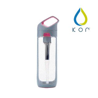 KOR NAVA filter 隨身濾水瓶 灰粉/650ml(內含濾芯*1)